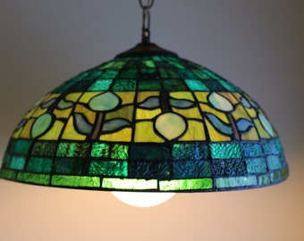 Blue and Green Tulip Lamp