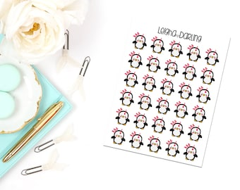 Angry Penguin Planner Stickers