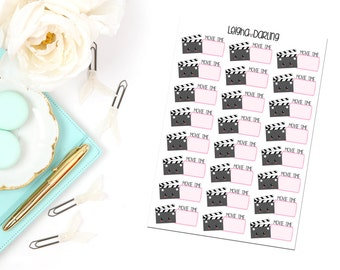 Kawaii Movie Time Planner Stickers