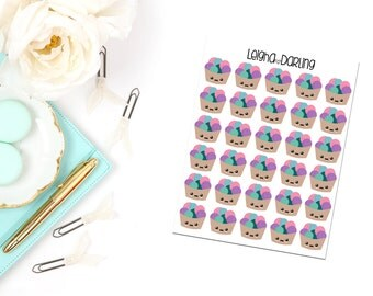 Kawaii Yarn Basket Planner Stickers