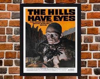 Framed The Hills Have Eyes Horror Movie / Film Poster A3 Size Mounted In Black Or White Frame
