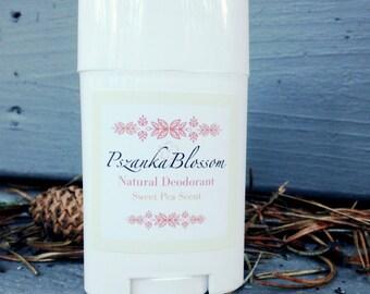 Pszanka Blossom Natural Deodorant - Sweet Pea Scent (2oz.)