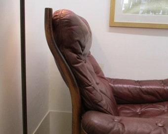 Illum Wikkelsø Danish Leather Lounge Chair