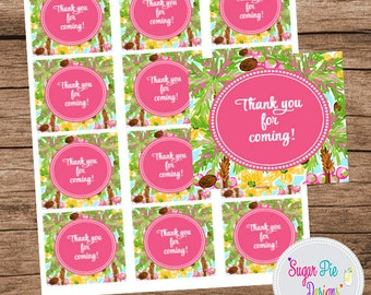 Favor Tags, Thank You Tags, Luncheon, Bridal Shower, Baby Shower