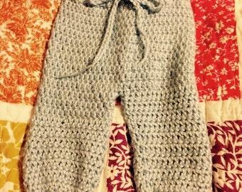 Baby pants with adjustable waist, Baby girl/ baby boy pants, 0-3 months, 3-6 months, 6-9 months.