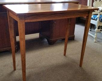 Custom made oak sofa table.