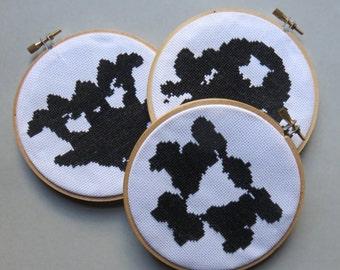 Rorschach Inkblots #1, #2 & #3- Cross Stitch Pattern PDFs