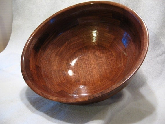 Hand Made Bowl, Segmented Walnut Bowl, Hand Made Wood Bowl, Segmented Bowl number 72