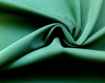 SALE Hunter Green Milliskin, Moleskin, Thick Opaque Stretch Knit, Fabric for Activewear, by the yard