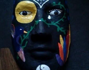 Wax mask wall hanging