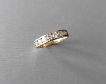 SALE ** 9ct yellow gold diamond eternity style ring ** SALE