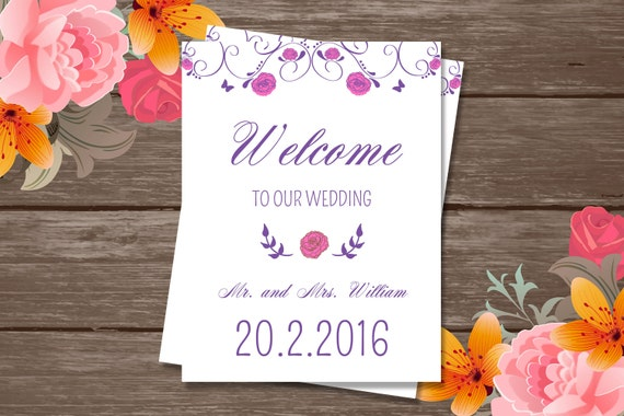 Wedding Welcome Basket Tag  Wedding Favor Tag Template  Wedding