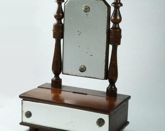 Victorian Dolls Dressing Table Swing Mirror Circa 1870