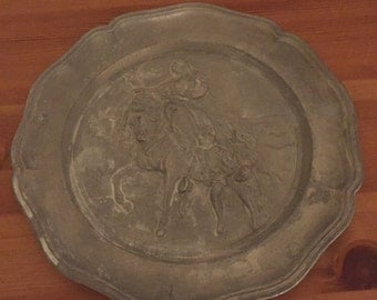 Metal Plate, Depicting a Horse & Rider