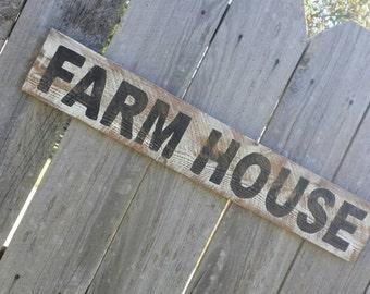 Farmhouse Rustic Sign, Wood Wall Decor, Distressed Wall Art