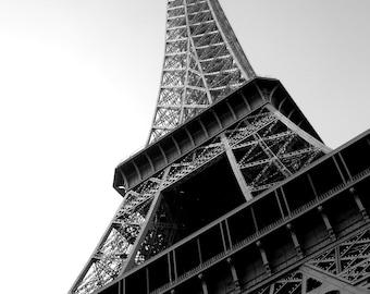 Black & White Photograph - L'Eiffel - Paris - Eiffel Tower - Architecture