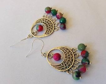 Earrings gems 925 Silver Earring chandelier