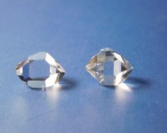 Pair(2) of Stunning Herkimer Diamond Quartz Crystals