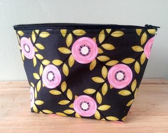 Makeup bag, floral print