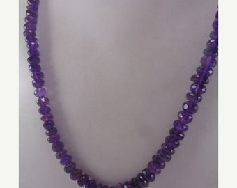 10% Off Natural Amethyst Beaded Necklace, February Birthstone Necklace, Anniversary Necklace, Wedding Gift for Her