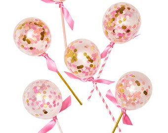 PINK SHIMMER BALLOON Pops