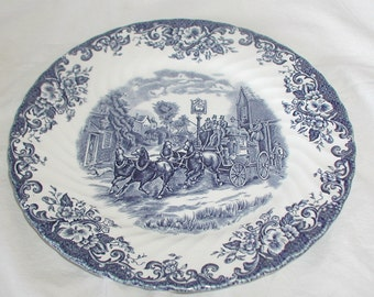 Vintage Johnson Brothers Ironstone Coaching Scenes Plate Collectible China