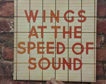 "VINTAGE Wings - At The Speed of Sound 12"" Vinyl Record Album 1976 - Brilliant Condition Retro"