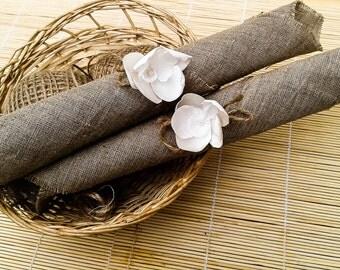 Set of 10 napkins for weddings, rustic wedding, Napkin Rings, flower napkin rings, Wedding Decor, rustic