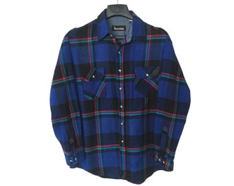Vintage Blue and Black Timber Ridge Flannel X-Large/2X FREE Shipping!!