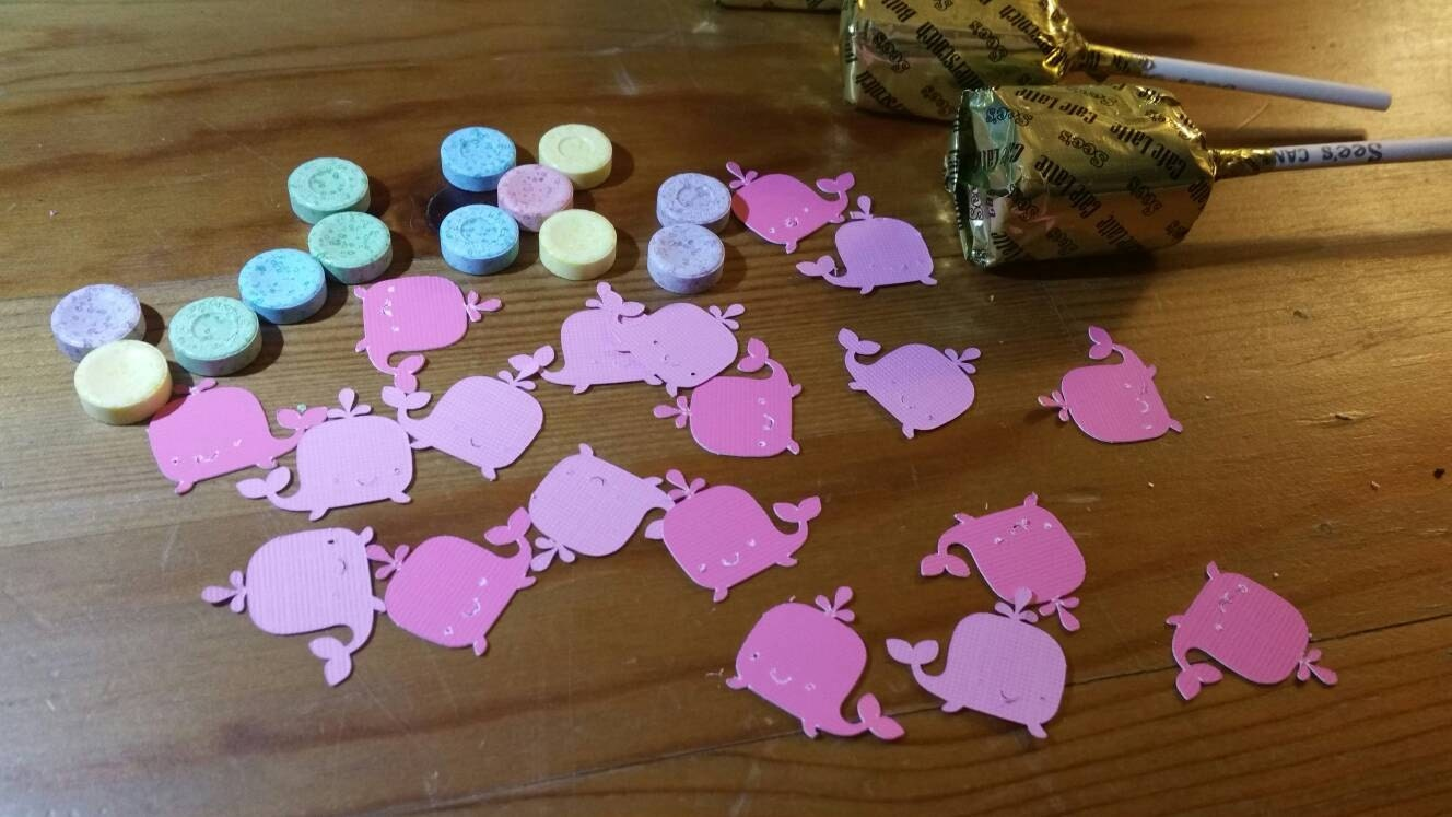 Baby shower confetti baby girl shower nautical confetti for Baby confetti decoration