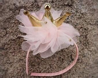 Girl Crown headband, Toddler headband, Hard headbands, Flower girl headbands, Girl flower Headband, Girls birthday Gift/Girls back to school