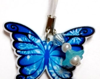 Snowflake Butterfly Acrylic Charm