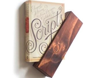 Wooden Book Holder, Wooden Shelf, Floating Book Shelves, Wall Book Shelf, Modern Rustic Décor, Minimalist, Holiday