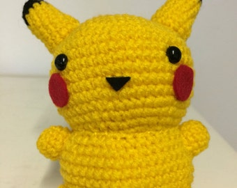 Pikachu inspired by Pokemon crochet toy