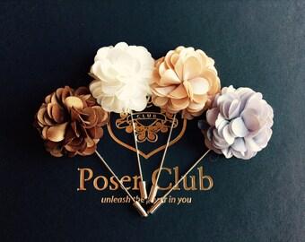 Men's Flower Lapel Pin - Series 1 by Poser Club