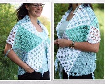 "crochet pattern for a wrap/stole ""sea breeze"""