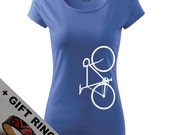 Women's Bicycle shirt,+gift, in many colours, Eco-friendly printed,Yoga shirt, XS, S, M, L, XL, XXL