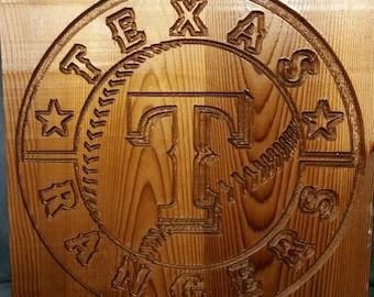 Texas Rangers Plaque