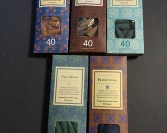 Incense Cones 2 pack ( 80 pieces)