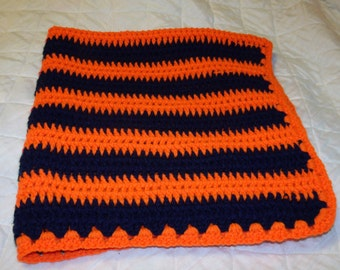 Blue and Orange baby blanket