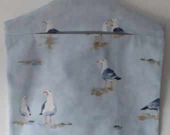 Handmade Waters Edge Periwinkle Peg Bag