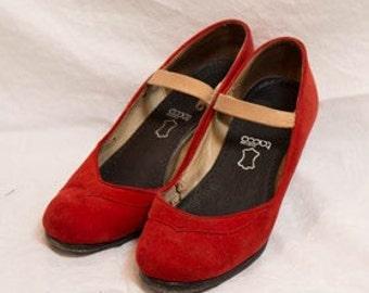 Flamenco shoes vintage Size7