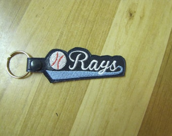 Tampa Bay Rays Baseball Key Fob
