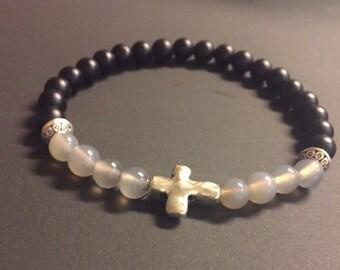 Praise Two Tone Beaded Bracelet