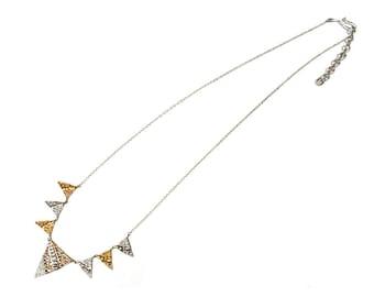 Melange Triangle Necklace
