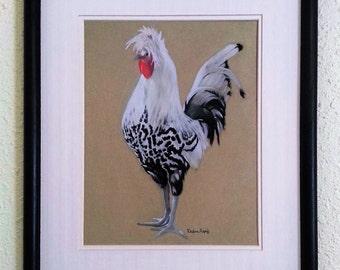 Silver Spangled Appenzeller Spitzhauben Rooster