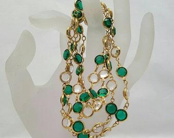 Bezel-set Crystal Necklace