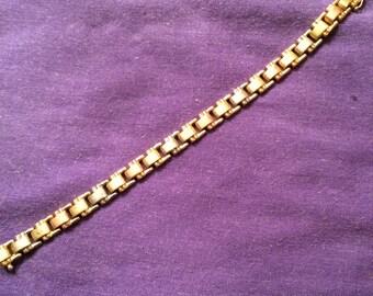 Vintage 80's tri-color 14k gold bracelet