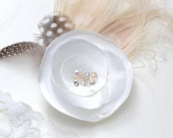 Clip bridal hair - jewelry hair-Leontine - bridal adornement-hairdresser wedding hair jewelry French - clip hair jewelry bride-