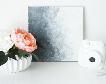 Grey Sky / Abstract Painting / Canvas